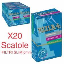 KIT 3000 FILTRI RIZLA SLIM 6 mm IN SCATOLO 2 BOX 10 SCATOLE DA 150 PZ