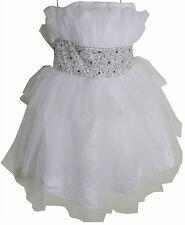 NEW Formal Wedding Dresses 16 Large XL White Strapless Tulle Satin Empire Waist