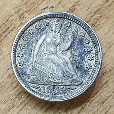 1853 United States Seated Liberty Half Dime .900 Silver Coin Arrows at Date