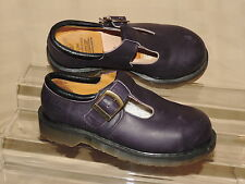 DR. MARTENS  UK sz 5 STEEL TOE Navy Blue T Strap Mary Janes Made in ENGLAND