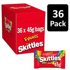 36 x 45g Skittles Fruit Candies Chewy Bite-Sized Sweets Fruit Flavours