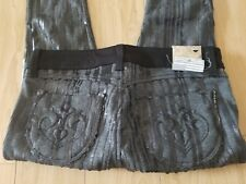 NWT $208 SIWY Hannah Slim Crop Sequin Leggings Jeans Size 26 Made in USA