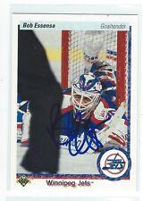 Bob Essensa Signed 1990/91 Upper Deck Card #122