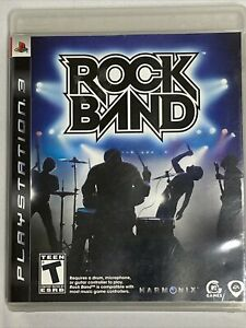Rock Band  (Sony PlayStation 3, 2010) PS3 Complete w/ Manual tested