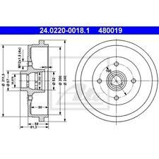 SATZ 2x ATE Bremstrommel AUDI 80 (80 82 B1)  AUDI 80 (81 85 B2)  AUDI COUPE (81