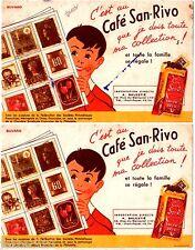 LOT de 2 BUVARD PUBLICITAIRE ANCIEN - CAFE SAN-RIVO