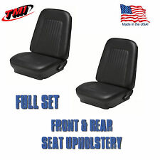 1967 & 1968 Camaro Front and Rear Seat Upholstery Black Vinyl Made in US by TMI