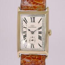 IWC CURVEX Art Deco Design 18ct Gold Herren Armbanduhr aus den 1930er Jahren