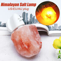 Mini Hand Carved Natural Crystal Himalayan Salt Lamp Night Light Wall Plug Gif