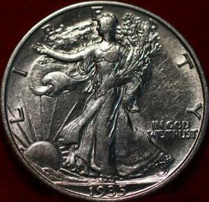 Uncirculated 1935-S San Francisco Mint Silver Walking Liberty Half