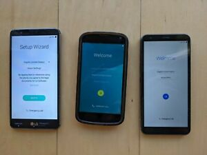 Lot of Android phones - LG Stylo 2 V + TracFone LG Journey LTE + Nexus 4