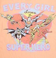 New DC Comics Women's Graphic Tee Shirt Super Hero Superman Batman