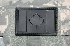 """canada flag patch black pvc hook and loop backing canadian tactical 3"""" x 2"""""""