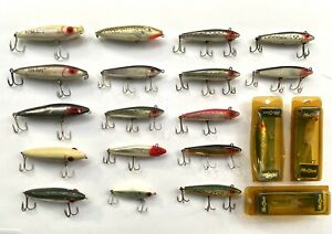 Lot of 20 MirrOlure Freshwater / Saltwater Topwater & Twitch Bait Fishing Lures