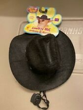 Rubies Pet Shop Cowboy Hat Black S/M Black Halloween Dog Dress Up CE11