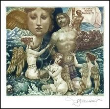 David Bekker 2000 Exlibris C4 Mythology Odysseus Siren Erotic Nude Woman 752