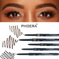 PHOERA 2in1 Waterproof Eye Brow Eyeliner Eyebrow Pen Pencil Brush Makeup Tools