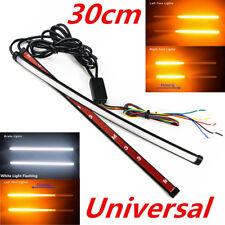 2x Sliding LED Amber Car Turn Signal Indicator + White Driving Light 30CM Custom