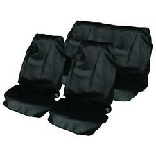 BLACK CAR WATER PROOF FRONT & REAR SEAT COVERS FOR MITSUBISHI SHOGUN SWB 07 on
