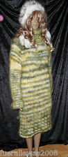 handgestrickt Strickkleid Long Pullover hand knitted Langhaar Mohair one size