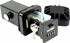 "HitchSafe 2"" Trailer Hitch Receiver Combination Key Storage Lock Box / Key Safe"