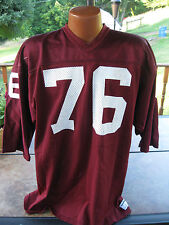 Vintage NCAA 1970's Sand Knit TEXAS A&M Football Game Jersey #76 Rare