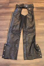 "Men's Black Leather Extra Small Harley Davidson ""Basic Skins"" Chaps 98480-98VW"