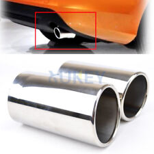 2pc Exhaust Muffler Tips Cover For Volvo XC60 S60 V60 Tail Pipe End Chrome Trim