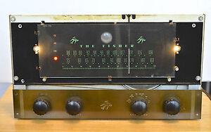 RARE THE FISHER FM TUBE TUNER RECEIVER mod. 50-R