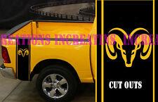 Hemi Dodge Ram Mopar Rear Bed Simple Stripes Truck Decals Stickers Set of 2