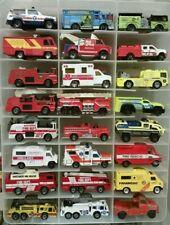 Huge Junk Lot - 35 Fire/Emergency Vehicles 1:64 - Hot Wheels, Matchbox, Maisto