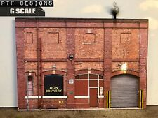 "G Scale Scratch Built ""BREWERY"" 🍻 Beer Factory Building Flat LED 1/24 1/32"
