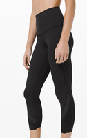 "Lululemon Wunder Under High Rise Crop 23"" Sclp Luxtreme NWT Black FREE SHIPPING"