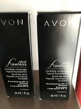 AVON (1-2) Ideal Flawless / True Color Invisible Coverage Liquid Foundation