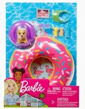 Barbie Estate Outdoor Furniture Playset Donut Pool Floaty Puppy & Accessories