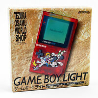 Gameboy Light Tezuka Osamu World Shop Nintendo System Red Clear Japan Excellent