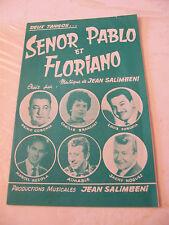 Partitur Senor pablo et Floriano Aimable Stand Corchia Azzola Noguez 1964