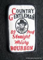 "COUNTRY GENTLEMAN EMBROIDERED SEW ON PATCH LIQUOR BOURBON WHISKEY 2"" x 3 1/4"""
