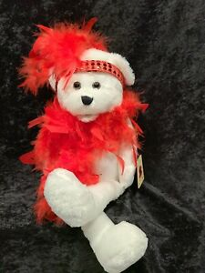 "ONE Chantilly Lane Musical Plush 18"" Roxie Bear - Sings I Wanna Be Loved By You"