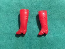 Htf Vintage Topper Red Boots Dawn Doll Accessory One Pair Of Boots