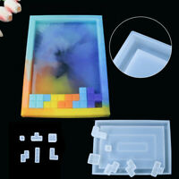 DIY Craft Silicone Handmade Crystal Epoxy Mold Tetris Puzzle Making Resin Molds
