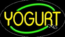 "Brand New ""Yogurt"" 30x17 Oval Solid/Flashing Neon Sign w/Custom Options 14320"