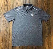 Nike Golf Tour Performance Mens Michigan State Short Sleeve Polo Shirt Large
