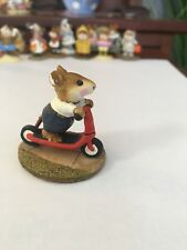 Wee Forest Folk M-152 Scooter Mouse with blue pants