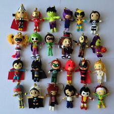 10 x Random Selection Superhero Movie Voodoo String Doll Keychain Keyring Lucky