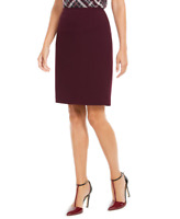 Calvin Klein Womens Plus Size Soft Crepe Pencil Skirt (Aubergine, 24W)