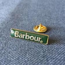 Barbour Brooch Orginal Green Enamel & Brass Lapel Pin Spilla Broche Brosche