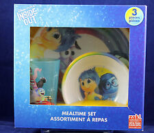 Mealtime 3-piece set Zak! Disney Inside Out Pixar Cup Bowl Plate Childrens NIB