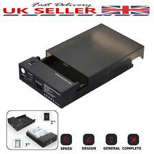 "USB 3.0 2.5"" 3.5"" External SATA HDD SSD Hard Disk Drive Enclosure Case Box V0M6"