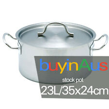 SOGA 23L Stockpot Stainless Steel Stock Pot with Lid Suitable All Hob Types